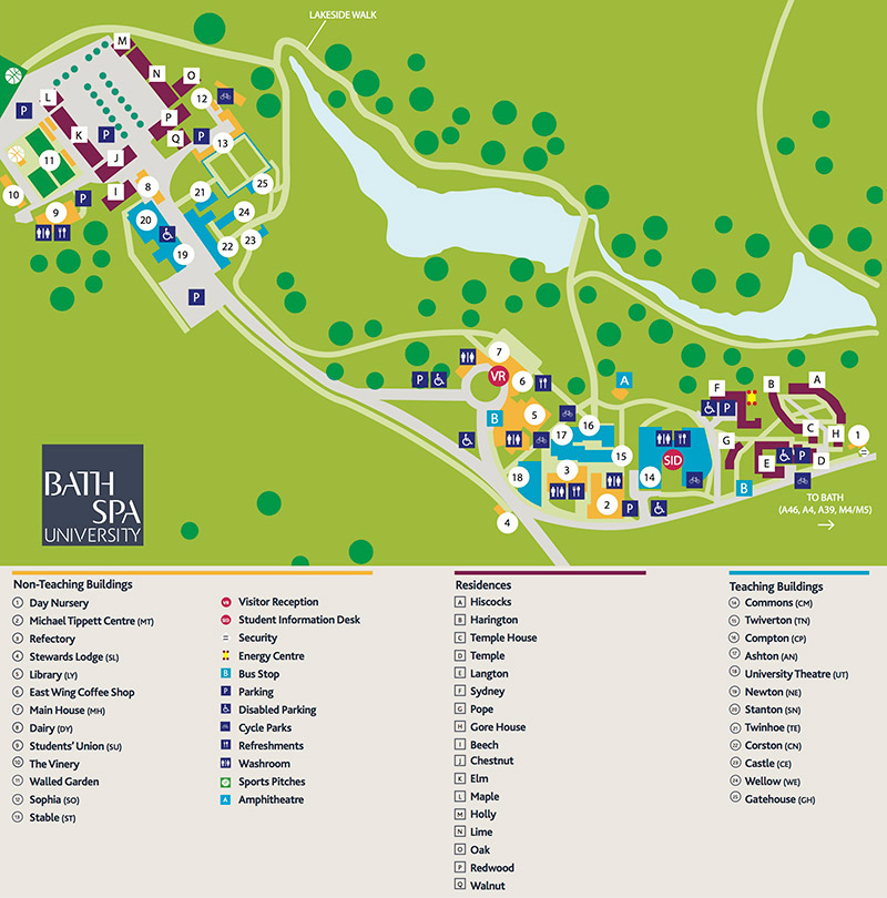 Newton Park Campus Map (2014)